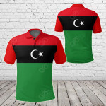 Libya Original Flag All Over Print Polo Shirt