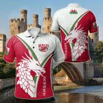 Wales Rugby - Celtic Rugby Celtic Rugby Welsh Dragon & Triskelion All Over Print Polo Shirt
