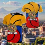Armenian Symbol Of Eternity Flag All Over Print T-shirt