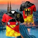 Germany Coat Of Arms Flag Color All Over Print Polo Shirt