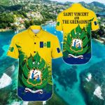 Saint Vincent and the Grenadines 1985 Special Short Sleeve Linen Button Down Shirt