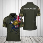 Australian Army Flag Symbol All Over Print Polo Shirt