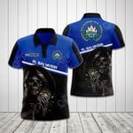 Customize El Salvador Coat Of Arms - Reaper All Over Print Polo Shirt