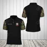 Customize Italia Coat Of Arms - Camo All Over Print Polo Shirt
