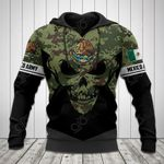 Mexico Coat Of Arms - Skull Camo All Over Print Hoodies
