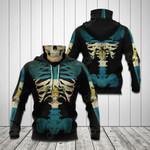 Guatemala Skeleton All Over Print Neck Gaiter Hoodie