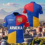 Armenian Flag Nation Color Version All Over Print Polo Shirt