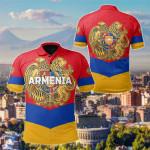 Armenian Flag Style All Over Print Polo Shirt