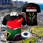 South Africa Warrior All Over Print Polo Shirt