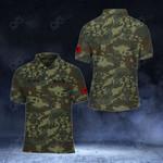 Customize Albanian Army Camo All Over Print Polo Shirt