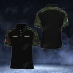 Customize Mexican Army Camo - Black All Over Print Polo Shirt