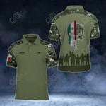 Customize Mexican Army Veteran Camo Soldiers All Over Print Polo Shirt