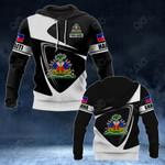 Customize Haiti Coat Of Arms - Flag V2 All Over Print Hoodies