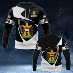 Customize Iraq Coat Of Arms - Flag V2 All Over Print Hoodies