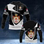 Customize Serbia Coat Of Arms - Flag V2 All Over Print Hoodies