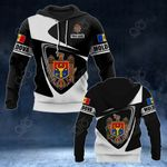 Customize Moldova Coat Of Arms - Flag V2 All Over Print Hoodies