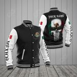 Customize Mexico Coat Of Arms - Skull All Over Print Varsity Jacket