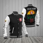 Customize Lithuania Coat Of Arms - Skull All Over Print Varsity Jacket