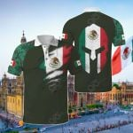 Mexico Coat Of Arms Version All Over Print Polo Shirt