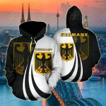 Germany Coat Of Arms Flag Version All Over Print Hoodies