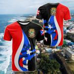 Puerto Rico Flag Coqui Frog All Over Print T-shirt