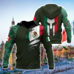 Mexico Coat Of Arms Version All Over Print Shirts