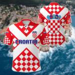Croatia Checkerboard Style Flag All Over Print Polo Shirt