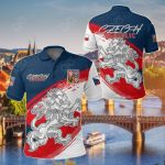 Czech Republic - The Silver Lion Special Version All Over Print Polo Shirt