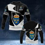 Customize Sweden Coat Of Arms - Flag V2 All Over Print Hoodies