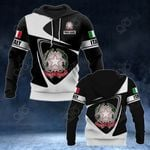 Customize Italy Coat Of Arms - Flag V2 All Over Print Hoodies