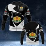 Customize Bulgaria Coat Of Arms - Flag V2 All Over Print Hoodies