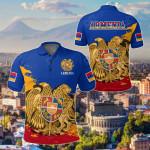Armenia Special - Blue Version All Over Print Polo Shirt