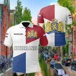 Netherlands Simple Sports Version All Over Print Polo Shirt