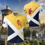 Scotland Royal Flag Lion Maps All Over Print Polo Shirt