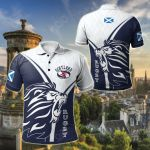 Scotland Rugby - Celtic Rugby Scottish Lion & Thistle All Over Print Polo Shirt
