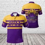 African Omega Psi Phi - 1911 Line Style All Over Print Polo Shirt