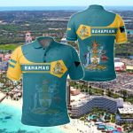 Bahamas Coat Of Arms Simple Style All Over Print Polo Shirt