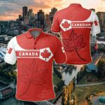 Canada Coat Of Arms Simple Style All Over Print Polo Shirt