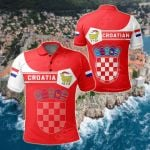 Croatia Coat Of Arms Simple Style All Over Print Polo Shirt