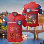 Czech Republic Coat Of Arms Simple Style All Over Print Polo Shirt