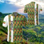 Ethiopia Stripe African Pattern All Over Print Polo Shirt
