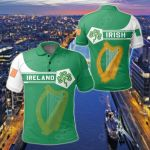 Ireland Coat Of Arms Simple Style All Over Print Polo Shirt