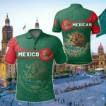 Mexico Coat Of Arms Simple Style All Over Print Polo Shirt