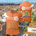 Netherlands Coat Of Arms Simple Style All Over Print Polo Shirt