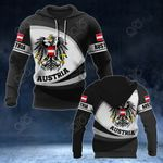 Austria Coat Of Arms Map - New Form All Over Print Hoodies