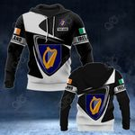 Customize Ireland Coat Of Arms - Flag V2 All Over Print Hoodies
