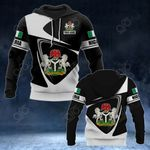 Customize Nigeria Coat Of Arms - Flag V2 All Over Print Hoodies