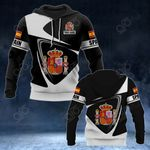 Customize Spain Coat Of Arms - Flag V2 All Over Print Hoodies