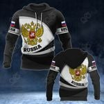 Russia Coat Of Arms Map - New Form All Over Print Hoodies
