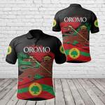 Oromo Flag Lion All Over Print Polo Shirt
